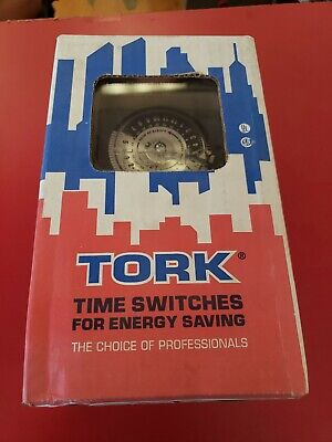 New Tork 24 Hour Time Switch N1n3r 1104nc 208-277vac 40amps Dpst Clear Cover