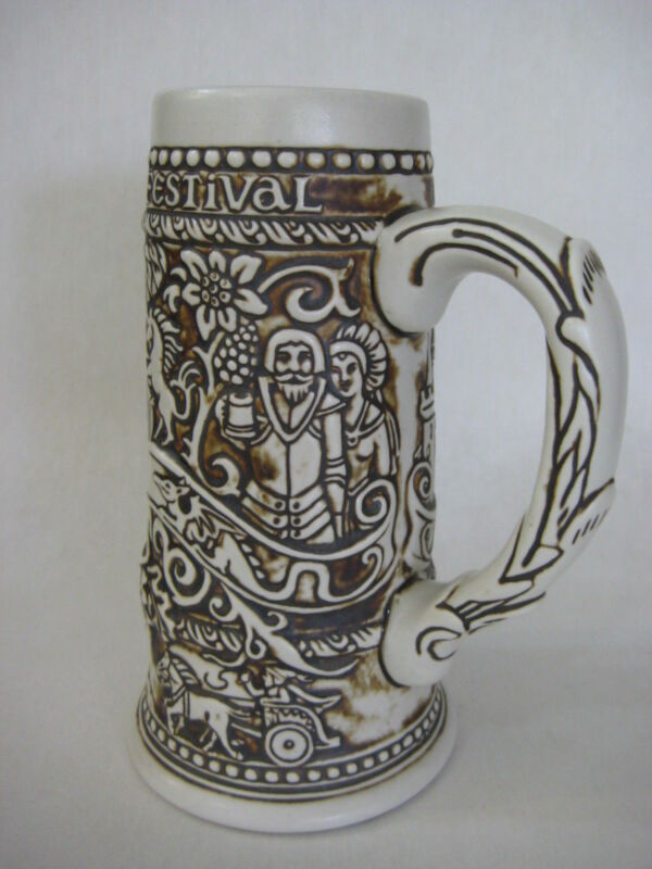 Ceramarte Specially Crafted For The Texas Renaissance Festival Stein (Rare)