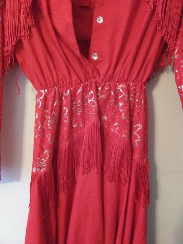 Lilia Vintage Red Western Dress Size 7/8