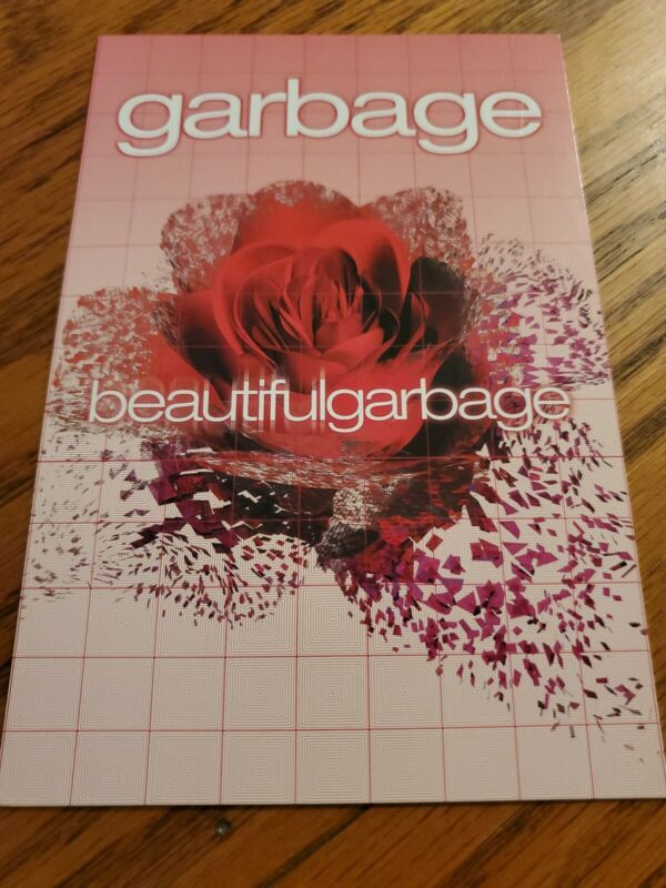 "GARBAGE ""BEAUTIFUL GARBAGE "" PROMO POSTCARD"
