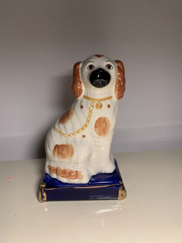Vintage Japan Ceramic Dog white Pekingese