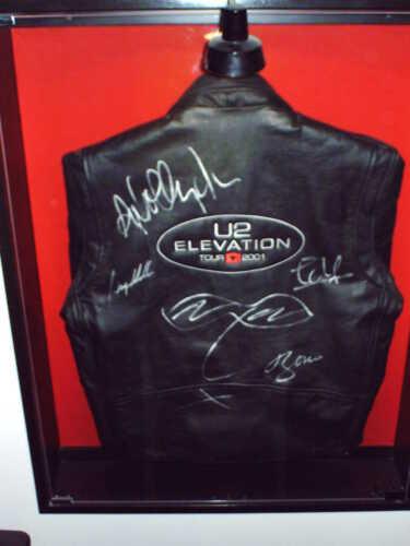 U2 Elevation Authentic Band Autograph Tour Jacket with Bono Self Portrait
