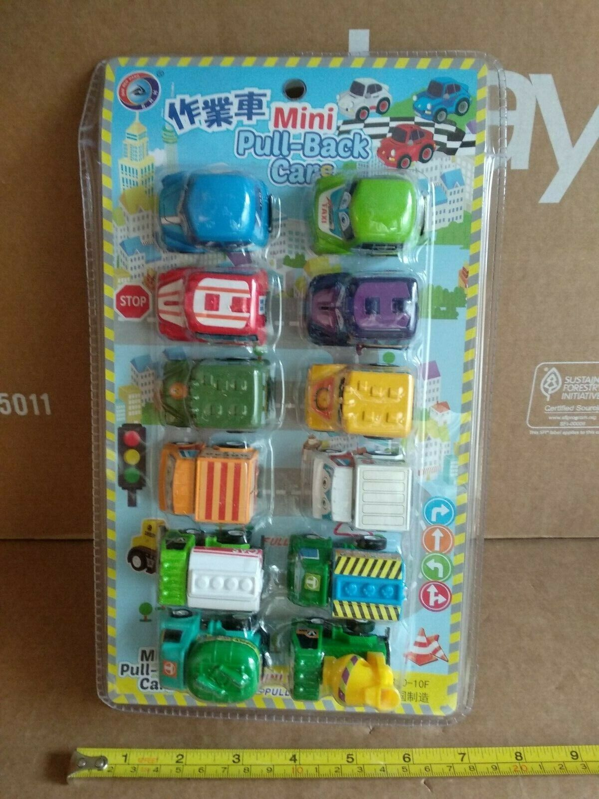 Toy Cars Set Pack of 12 Mini Collectible Toy Race Cars for B