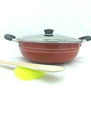 Rul Deep Non Stick Cookware with Lid and Accessories 9x3 Deep Skillet Pot Handle
