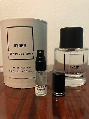Abercrombie & Fitch RYDER Cedarwood Musk Perfume 5ml Samples Free Shipping