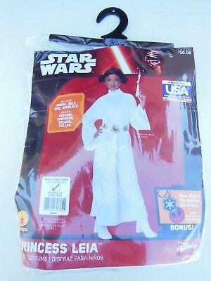 Disney Star Wars Princess Leia Halloween Costume - Child Size Small (4-6) NEW!](Baby Princess Leia Halloween Costume)