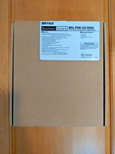 Buffalo 5-Port Unmanaged Layer-2 Gigabit Switch BSL-POE-G2105U