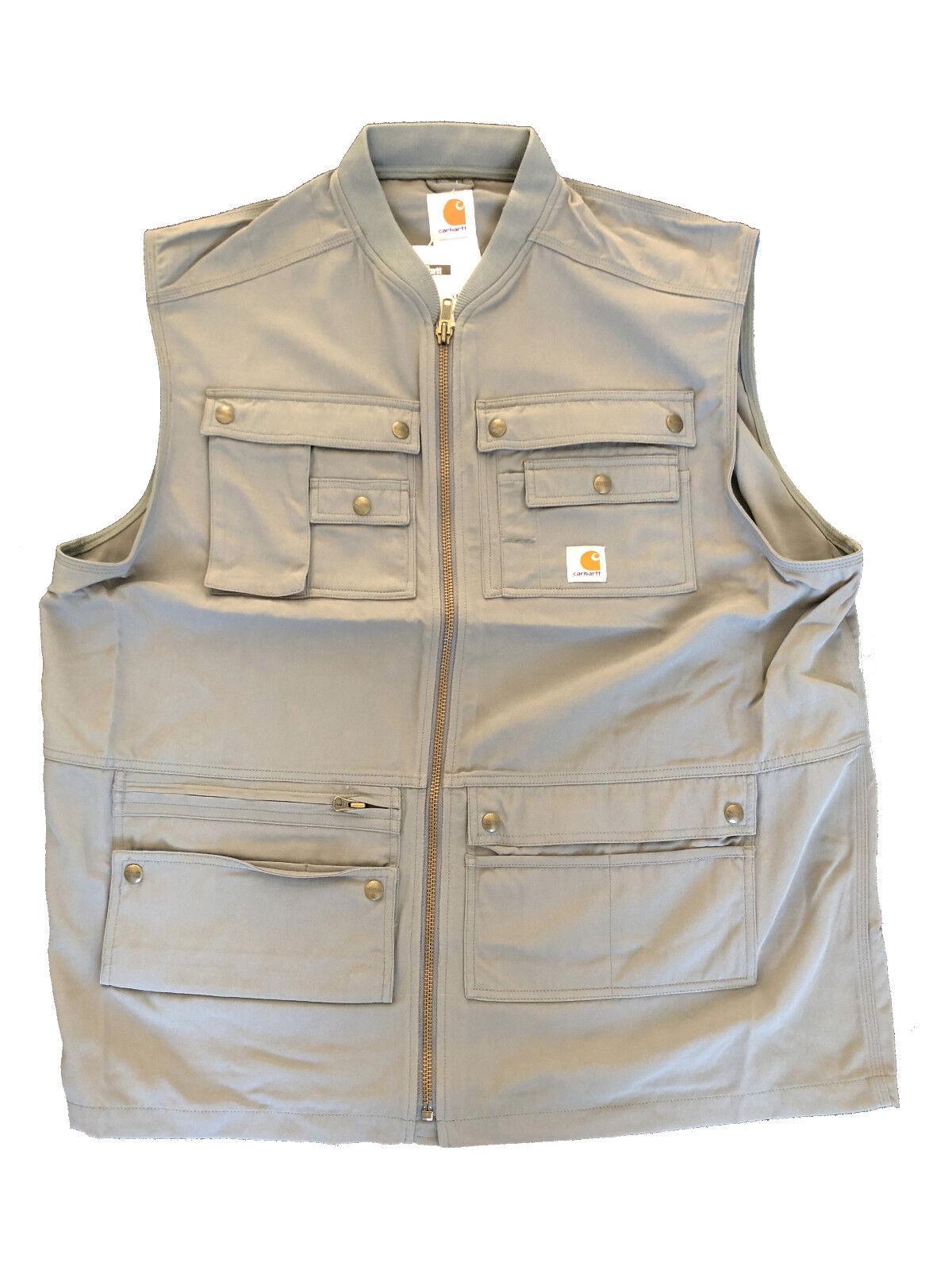 Carhartt Regular Tech Vest Outdoor Herren Arbeitsweste Weste mit 18 Taschen grau
