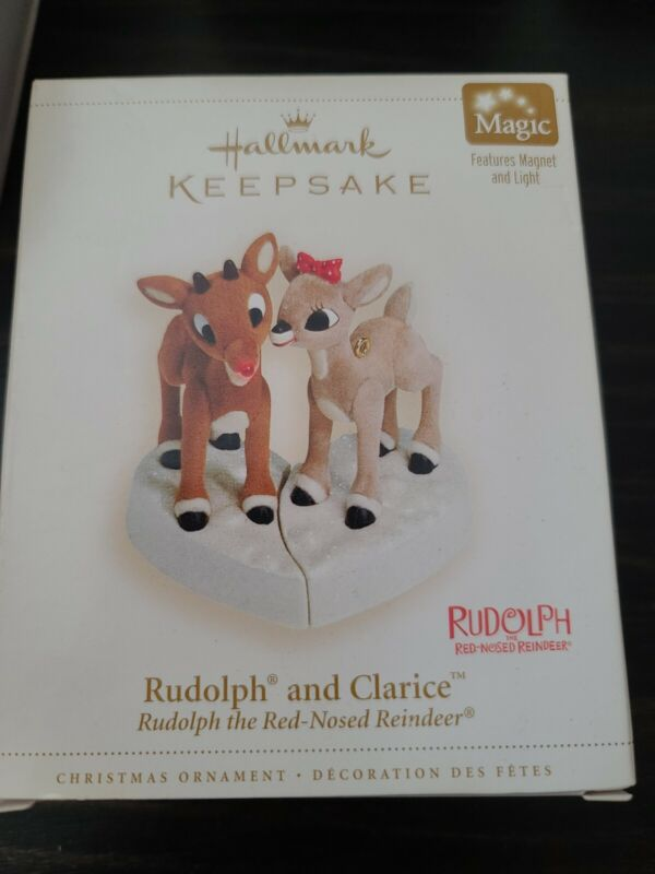 Hallmark RUDOLPH AND CLARICE 2006 NEW IN BOX Christmas Ornament