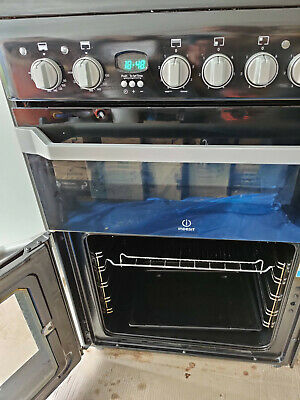 INDESIT ID60C2KS 60cm Double Oven Electric Cooker With Ceramic Hob Black ID60C2K
