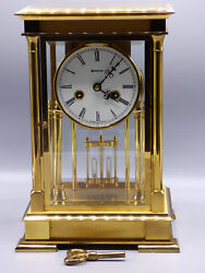 Limited Edition Benchmark The Regency Mantel Clock Solid Brass Case w/ Chime