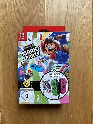 Super Mario Party Game with Neon Green/Pink Joy-Con Pair Nintendo Switch NEW