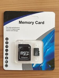 256GB   Micro SD HC Card with adapter 48MB/S