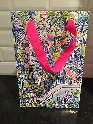 """Lilly Pulitzer Floral Gift Bag 8"""" X 12"""" - Floral Gift Bags"""