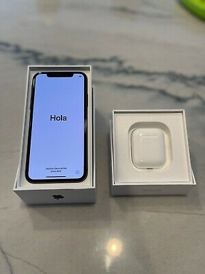 Unlocked Apple iPhone X - 256GB - Space Gray w/ AirPods