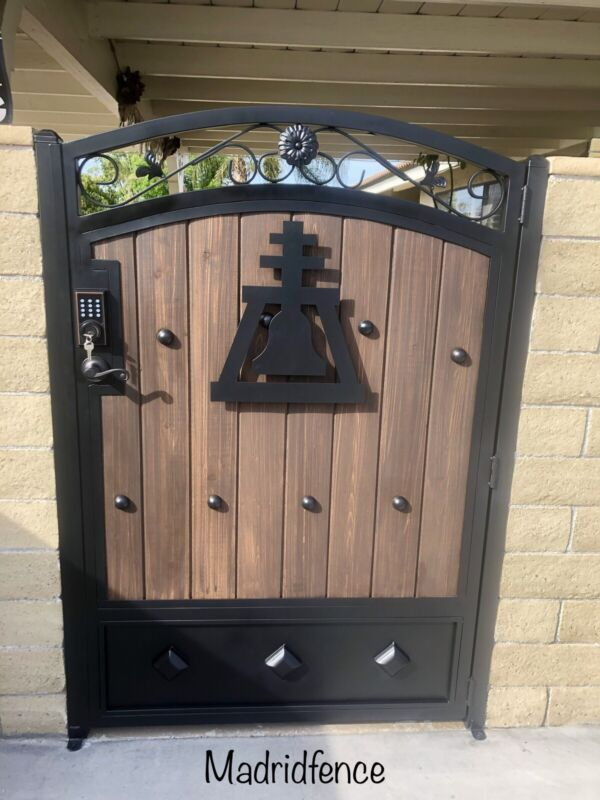 metal And Wood gates Custom To What You Need Size 4 Feet Wide 6 Feet Tall
