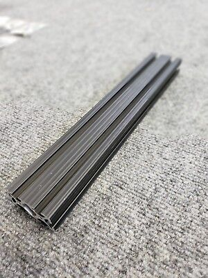 8020 Dual T-slotted Black Anodized Extrusion 12x2x1 Great Condition