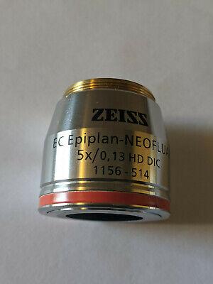 Zeiss Ec Epiplan-neofluar 5x 0.13 Hd Dic M27 Microscope Objective 1156-514