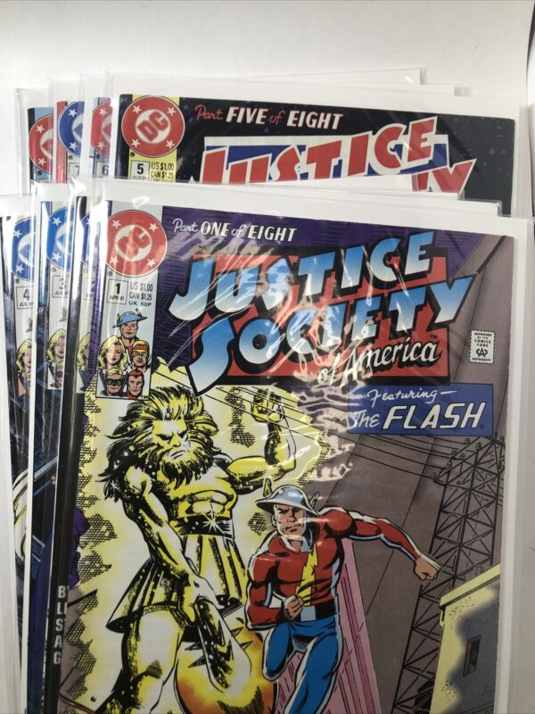 Justice Society of America #1-8 | DC Comics 1991 | NM/NM- | HTF | Classic