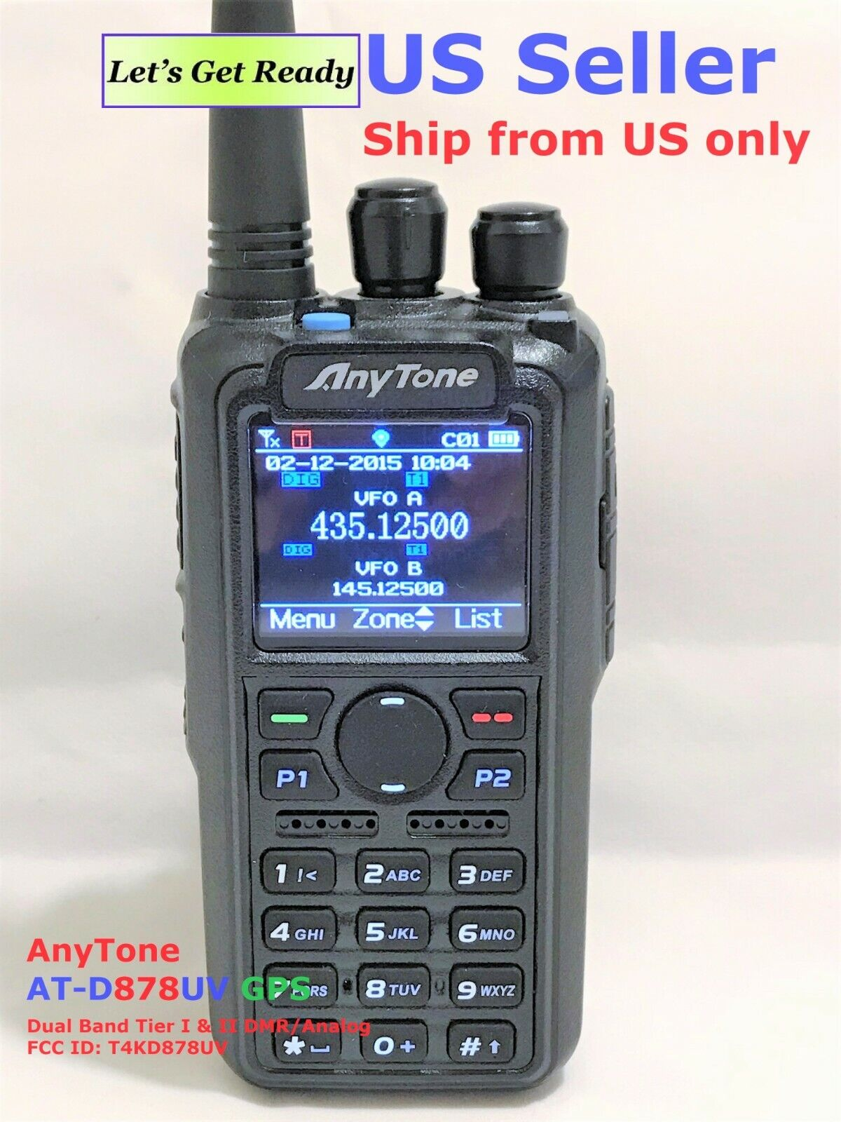 AnyTone AT-D878UV GPS Dual Band DMR/Analog radio with 3100 mAh battery US seller. Buy it now for 209.00
