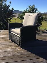 Wicker outdoor recliner chair Karalee Ipswich City Preview