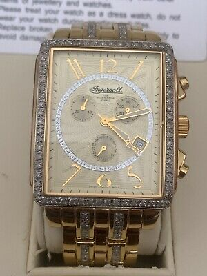 ingersoll 18 carat gold plated DIAMOND mens watch IG0430 LIMITED EDITION 083/500