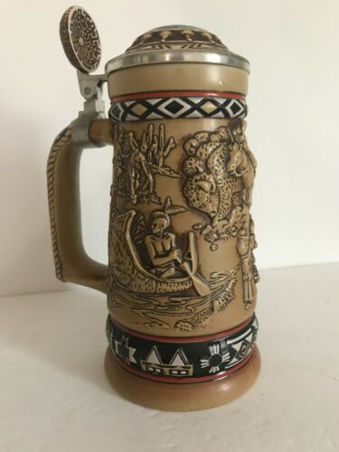AVON The American Native Frontier Beer Stein Collectibles 1988 Vintage135609