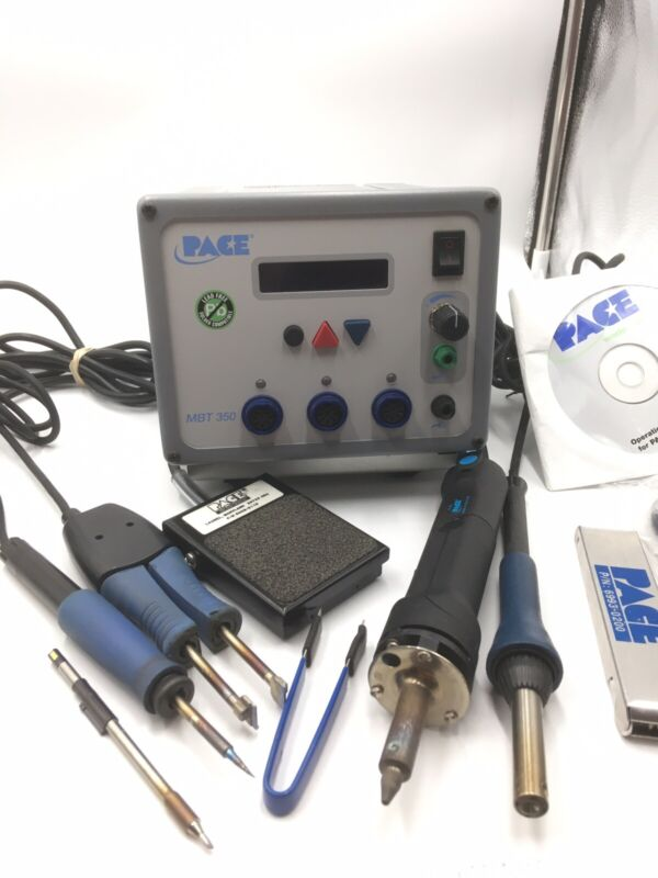 PACE MBT 350 MBT350 Solder Rework Station with 4 Hand Pieces & Pedal
