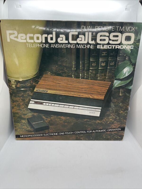 Record a Call Dual Remote 690  Answering Machine in ORIGINAL BOX COMPLETE New