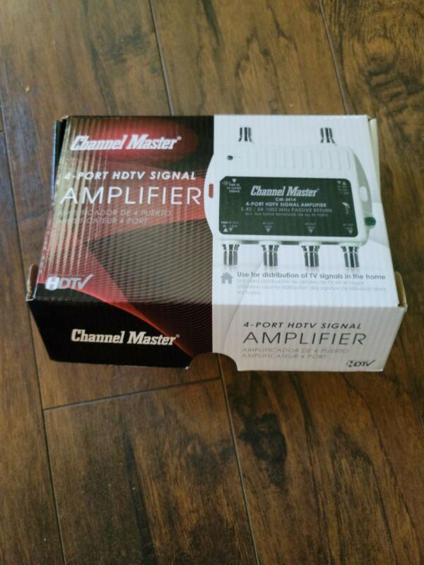 Channel Master CM-3414 4-Port HDTV Signal Distribution Amplifier - New Open Box