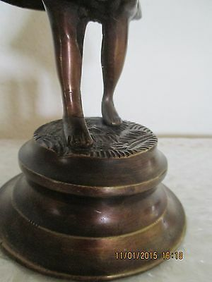 "Lancini Italy Bronze Figurine / Sculpture Girl Playing Violin 10 1/2"""