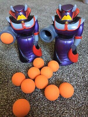 "Rare Disney Store Pixar Toy Story 6"" Zurg Popper Foam Ball Shooter Lot Of 2"