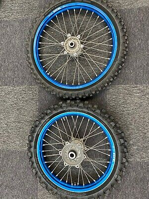 Used Complete Wheel Set OEM Blue with Tyres Yamaha YZF 250 YZ250F 2006 - 2020