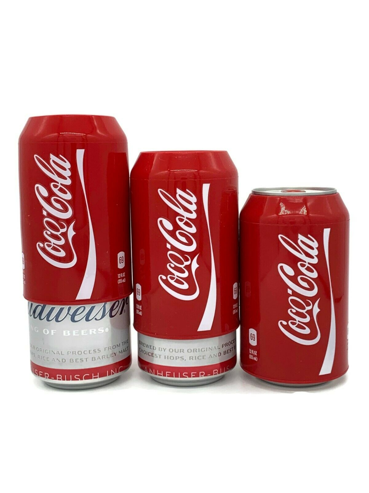 Silicone Beer Can Covers Hide A Beer (3 PACK) Coca Cola Sleeve