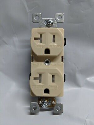 10 pc Standard Duplex Receptacles 20 Amp Brown Self Grounding 20A Outlets CR20