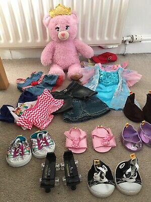 Build A Bear Disney Princess Bear Plus Clothes/Shoes Bundle Inc Frozen Dress