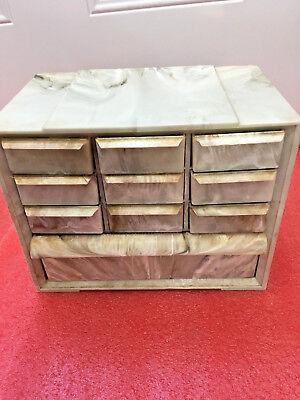 Bs3 Rare Vintage Akro-mils Drawer Hardware Organization Cabinet Bakelite Storage