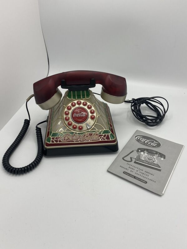 Vintage COCA COLA Stained Glass Style Working  Phone
