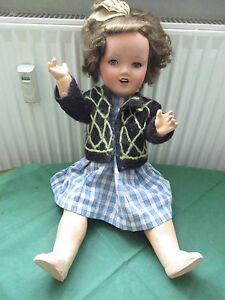 alte Puppe SP 3066  11  ca.57 cm gross Mamastimme Sonneberg