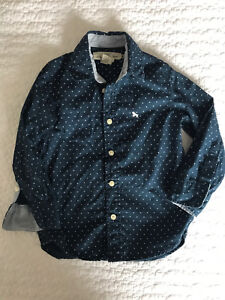 Toddler boy blue polka for dress shirt. Size 1 1/2 - 2 yrs