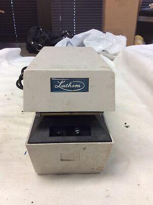 Lathem Model Lttz Time Clock Punch Card Recorder With Keys 1109205