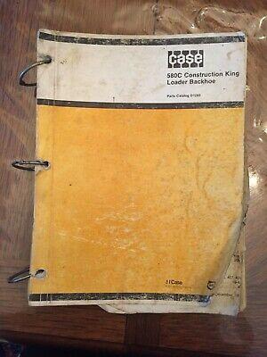 Case 580c Loader Backhoe Parts Catalog Dealer Original