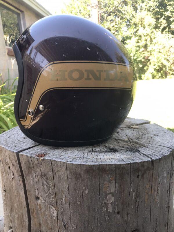 Vintage Honda Motorcycle Helmet Wings Hondaline Stag 1976 Shoei 3/4 Size S
