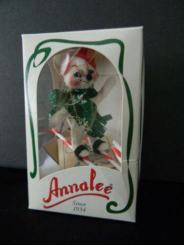 VINTAGE 1999 ANNALEE RARE SWEET SKIER MOUSE W/ORIGINAL BOX & TAGS ~ MADE IN NH