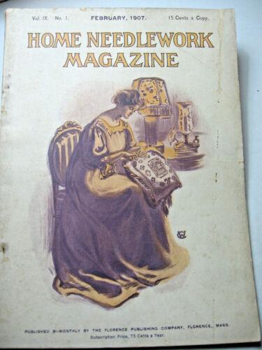 February 1907 Home Needlework Magazine