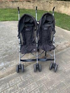 Fold down twin stroller
