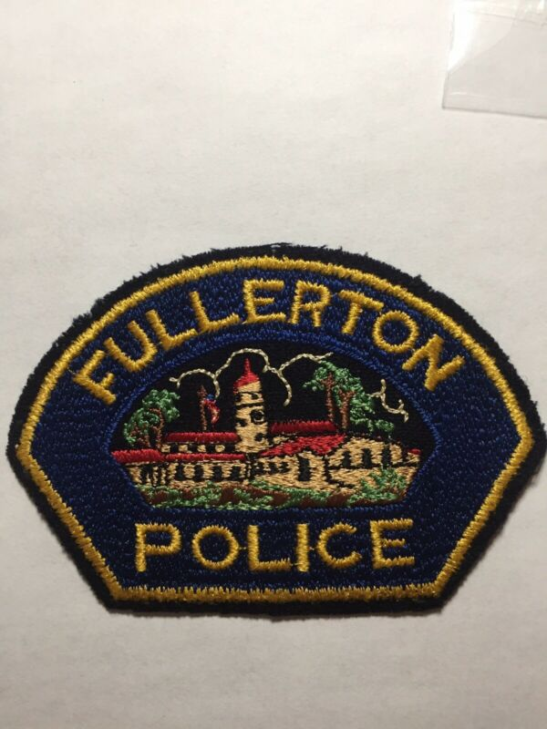 Old Felt Fullerton California Police Patch