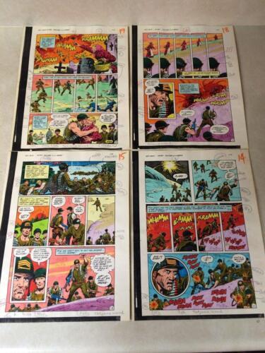 SGT ROCK #393 ORIGINAL ART color guides LAST 9 PAGES IN ROW WAR TANKS DRESS