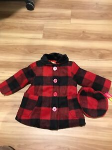 Girl's coat with matching hat