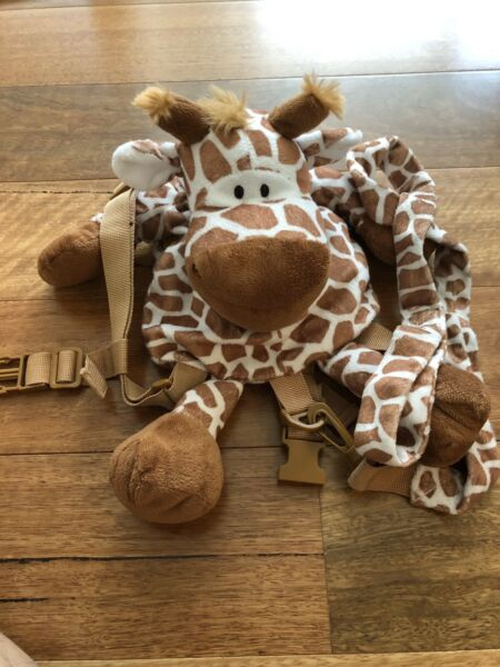 Baby Plush Giraffe Safety Anti lost Leash Harness Backpack Kids Toddler Bag Toy